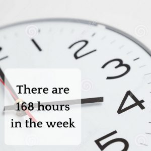 There are 168 hours in a week (2)