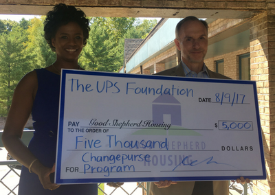 Good Shepherd Housing Receives $5,000 Grant from The UPS Foundation